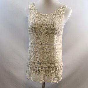 Sheer Ivory Crochet Top